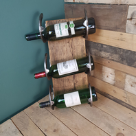 Locally Made Horse Shoe Wine Rack
